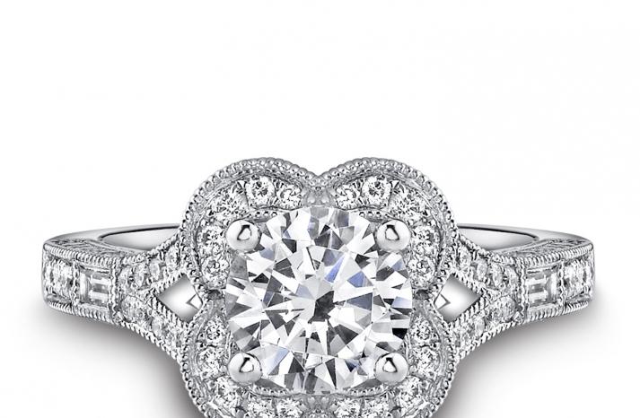 Kirk kara platinum engagement ring 3