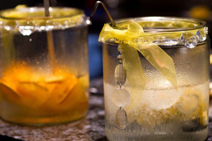 Wedding Reception Drinks Yellow Lemon