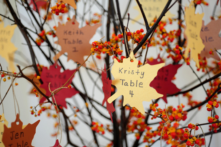 DIY FallInspired Escort Cards Credit Whitmeyer Photography
