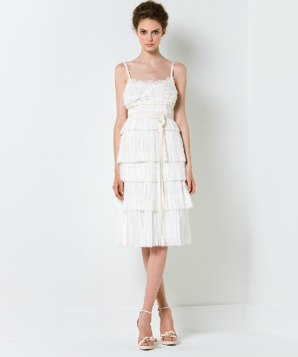 Short little white dress for wedding reception