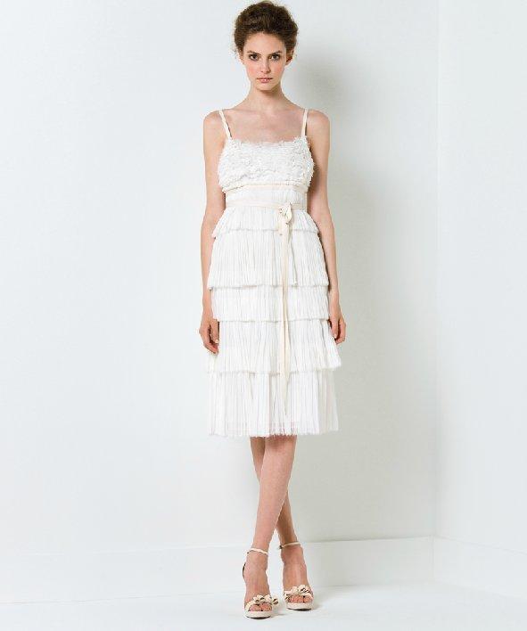 Short little white dress for wedding reception