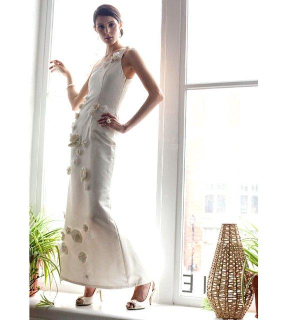 Elegant embellished wedding dress