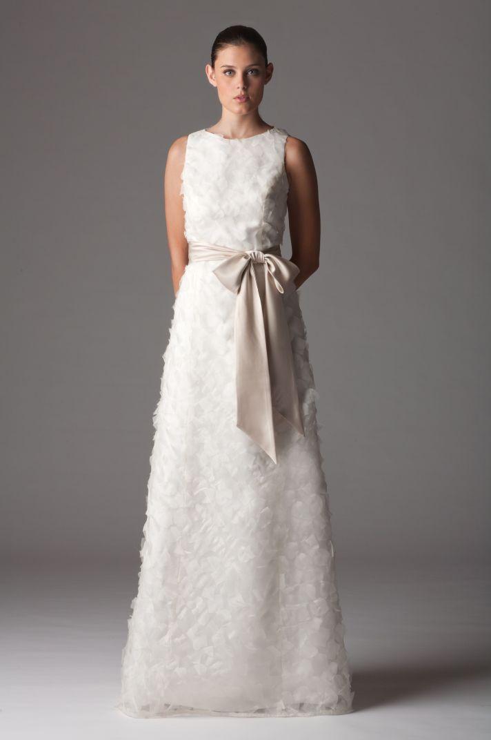 Modest high-neck wedding dress