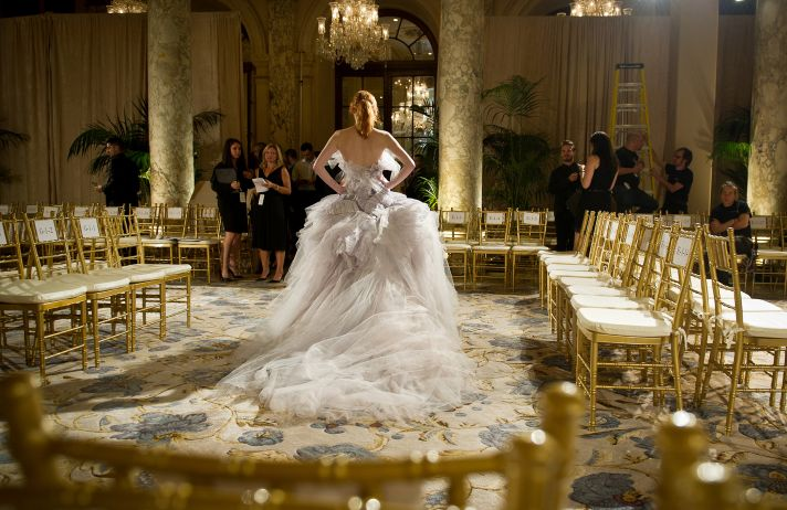 Dramatic Marchesa bridal gown