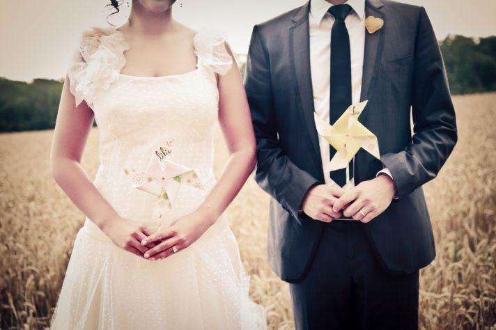 Artistic wedding photo