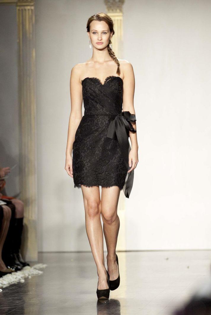 Short black bridesmaid dress