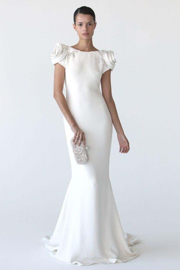 Modern mermaid wedding dress by Marchesa