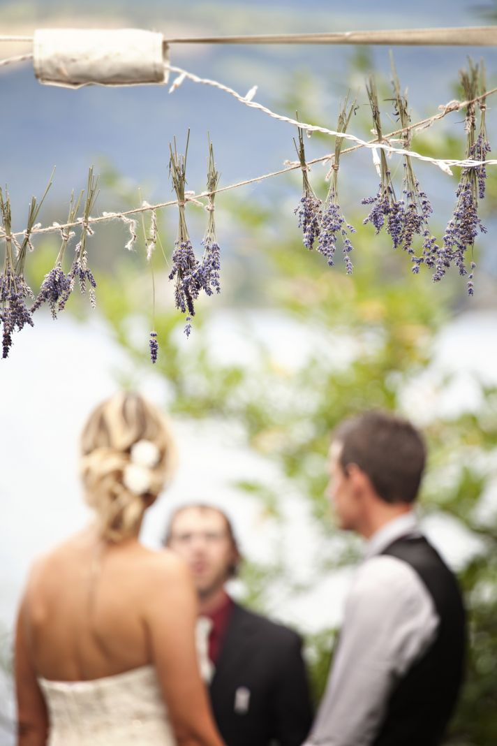 DIY wedding ceremony arbor