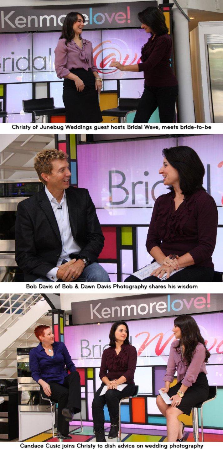 Christy of Junebug weddings guest hosts Bridal Wave, shares wedding photography advice
