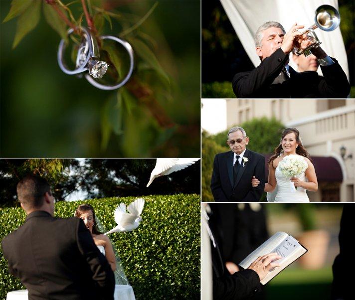 elegant spring wedding with blue, silver, ivory wedding color palette- wedding ceremony photos