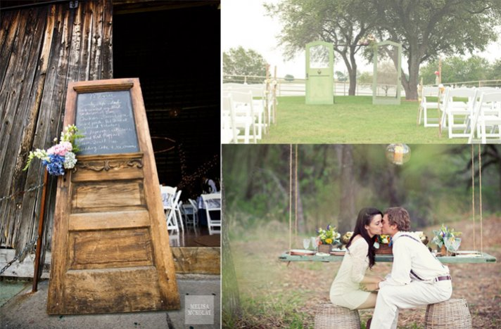Vintage wedding decor ideas- ceremony and reception details, 1