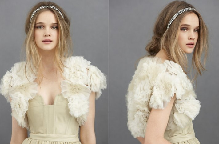 Bridal boleros by BHLDN- Textured Primrose bolero