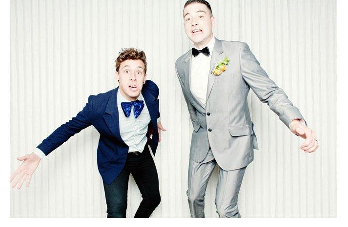 Funky-grooms-attire-bow-ties-rock-n-roll