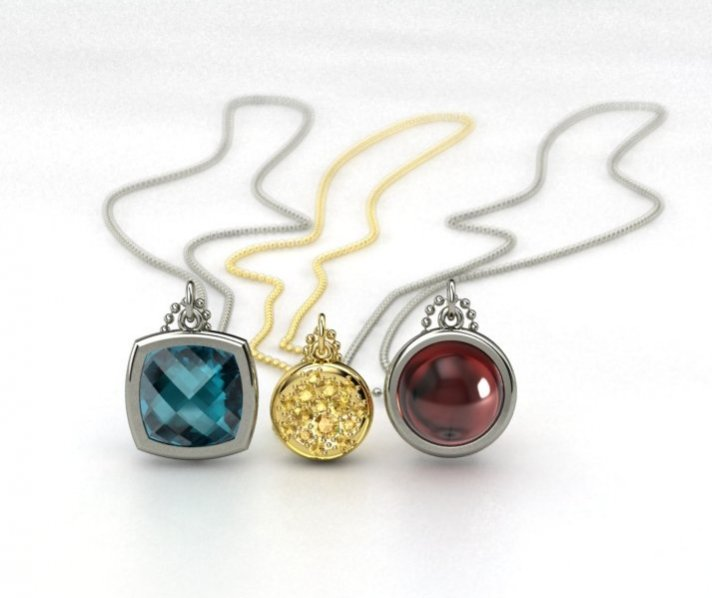 Bridesmaids' gifts from Gemvara- pendants