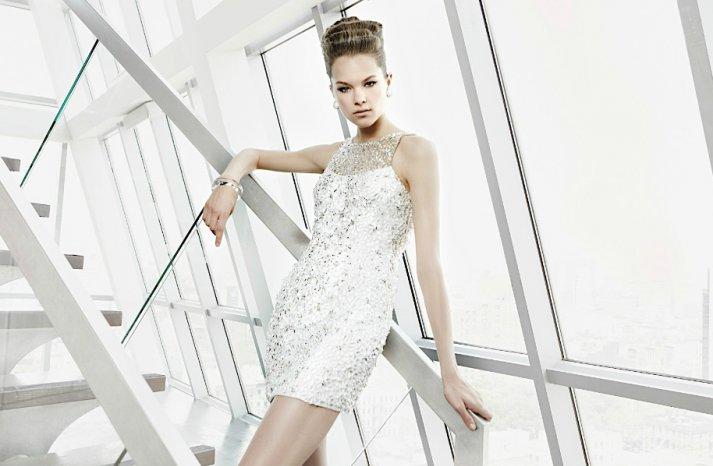 sparkly little white dress