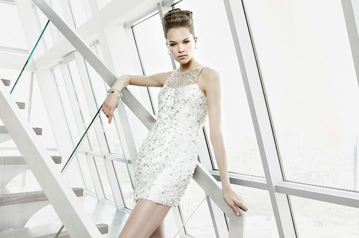 sparkly little white dress