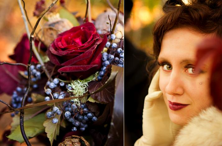 dark romance wedding flowers vintage gothic bride