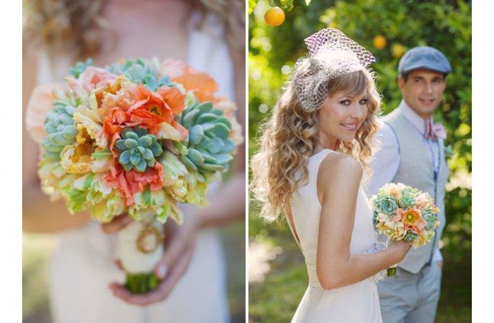 eco friendly wedding ideas succulent bridal bouquets 1