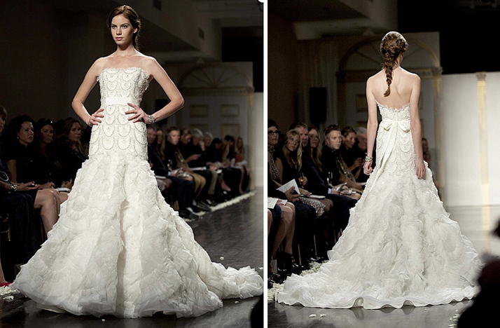 drop waist mermaid strapless bridal gown 2012 wedding dresses