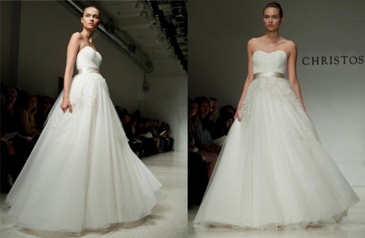 christos ballgown wedding dress 2012 bridal gowns NYC