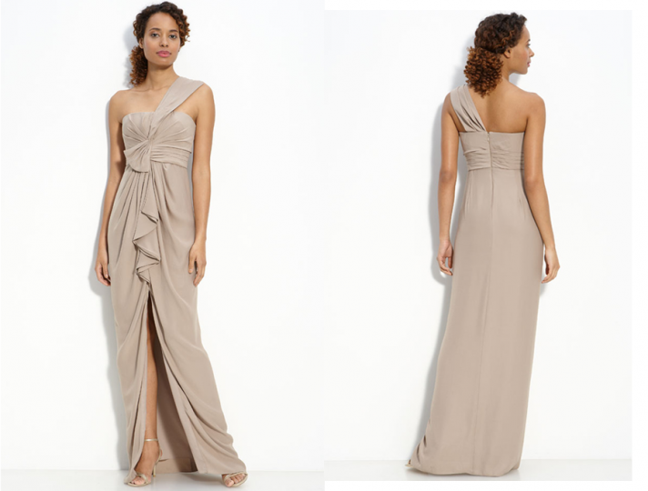 One Shoulder Dress For Bridesmaid Hairstyles Bridesmaid