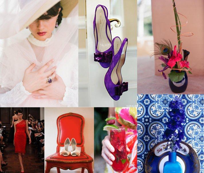 jewel tone wedding inspiration wedding shoes bridesmaids dresses cocktails