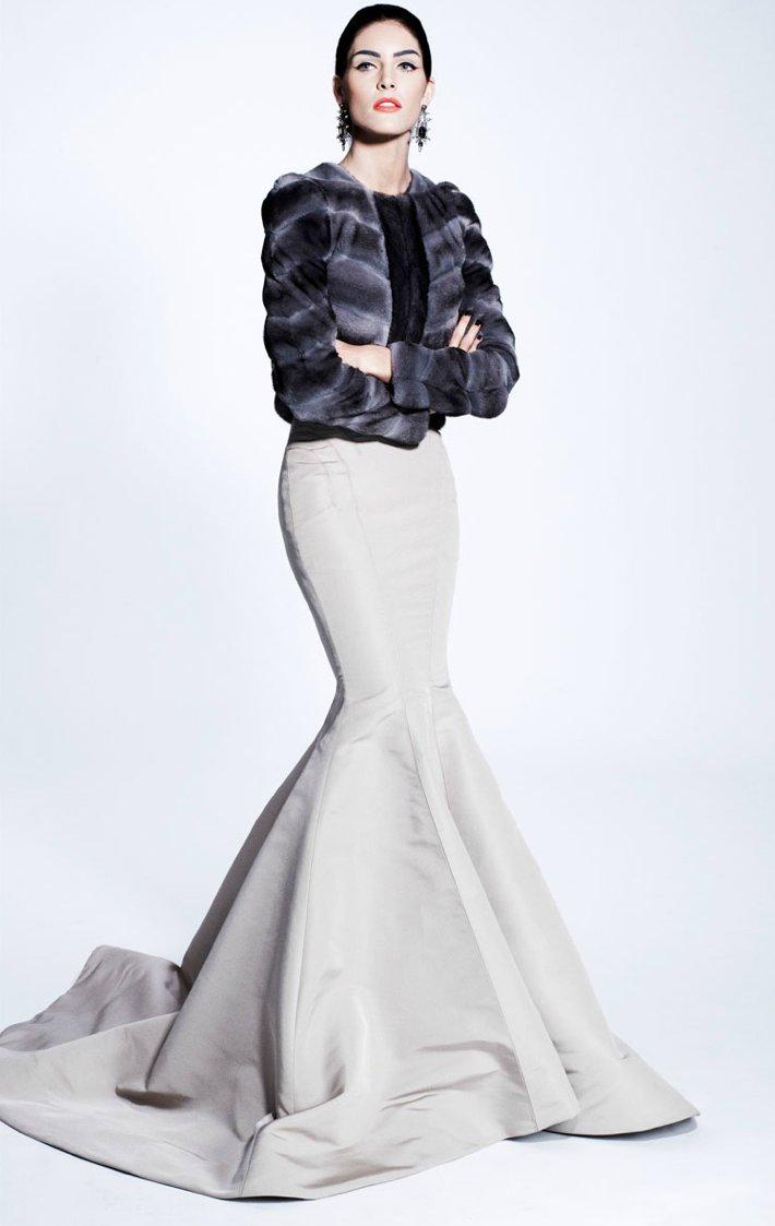 zac posen wedding dress inspiration pre fall 2012 winter wedding fur