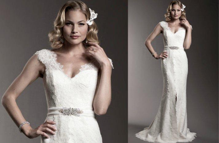 Amy-kuschel-wedding-dress-lace-cap-sleeves-2012-brdal-gowns
