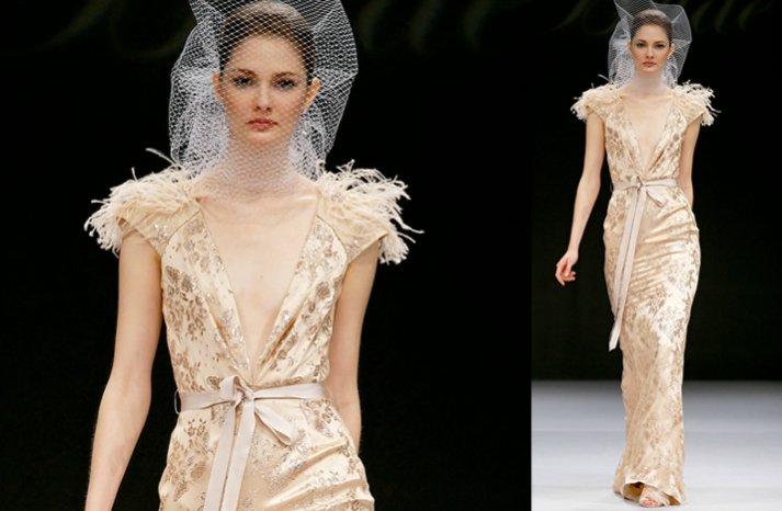 Nude-wedding-dress-2012-feather-sleeves-badgley-mischka