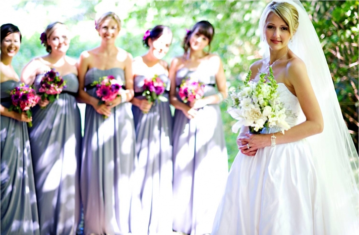 2011 outdoor wedding casual chic colorful wedding flowers white wedding dress