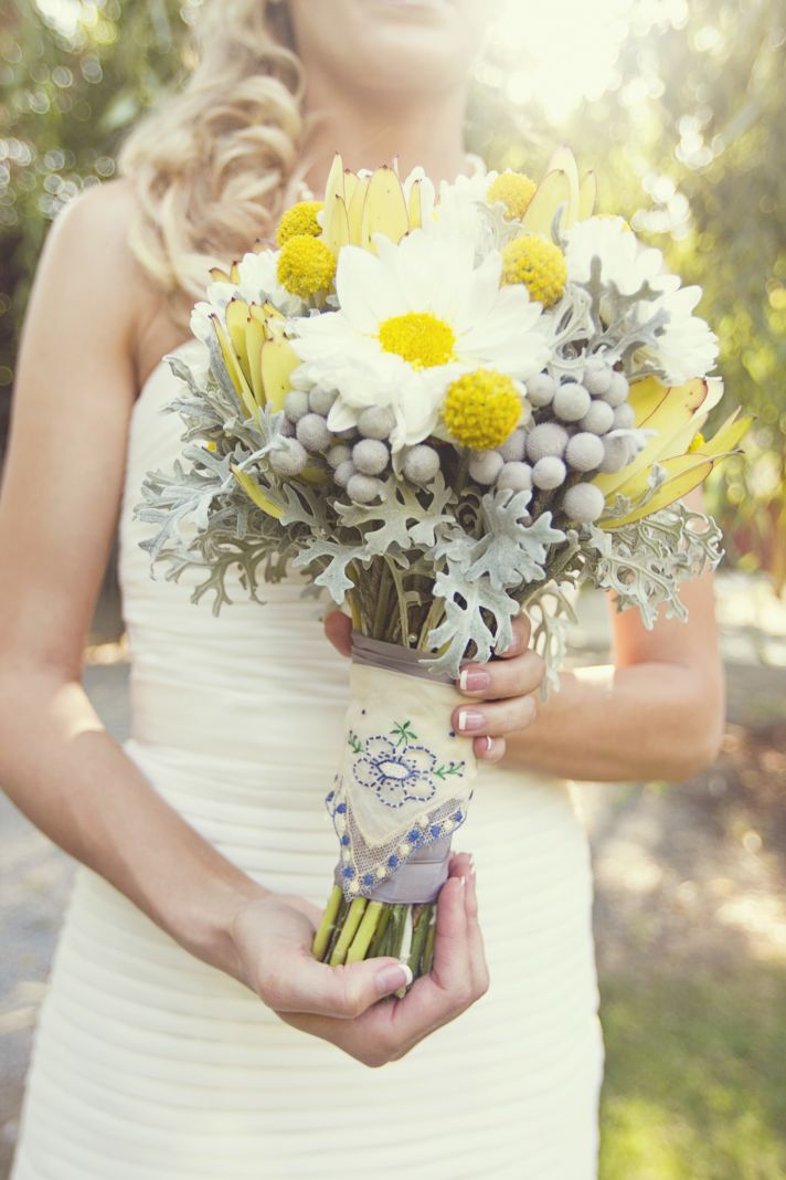 Shellicious: gray and yellow wedding