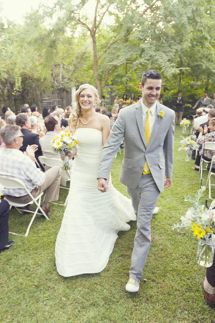 Yellow and Grey Fall Wedding in California