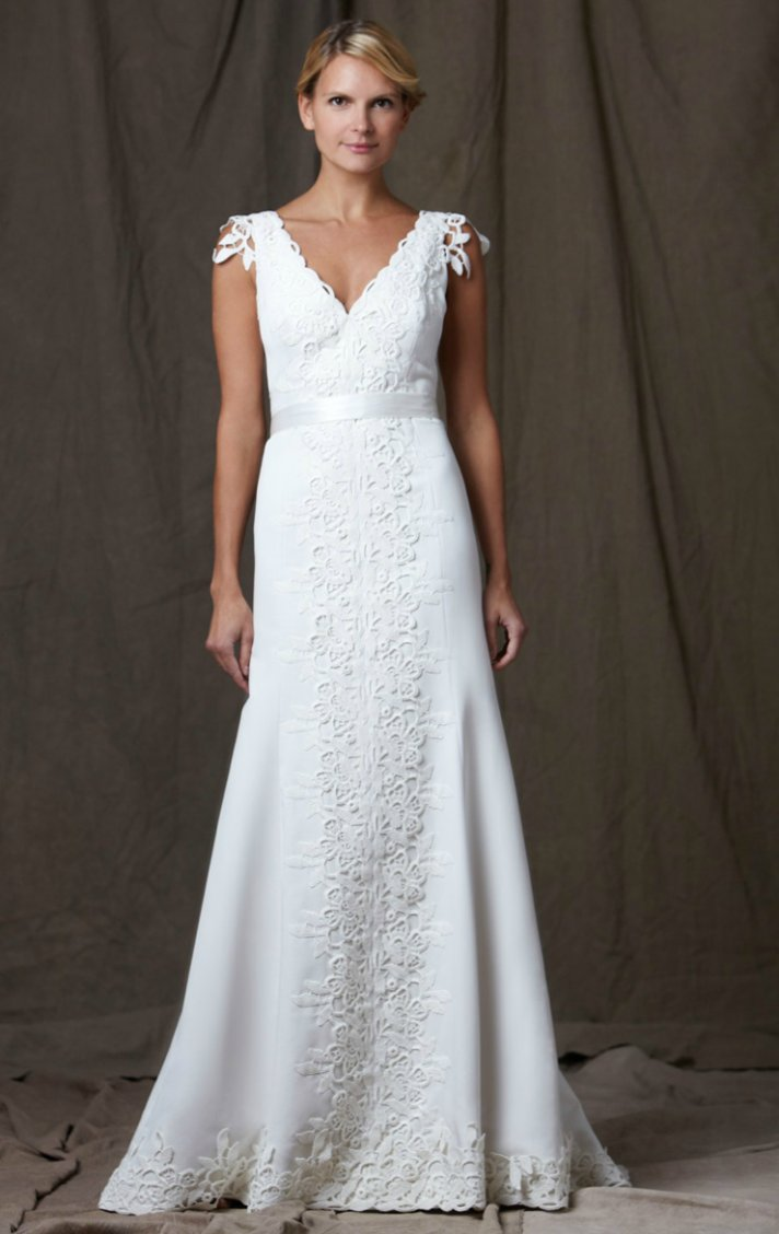 lela rose 2012 wedding dress v neck