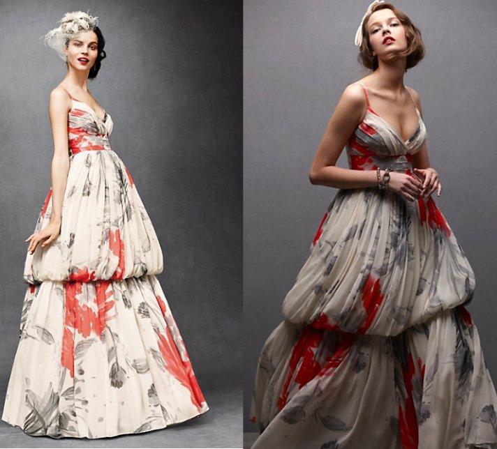 bhldn prnted wedding dress