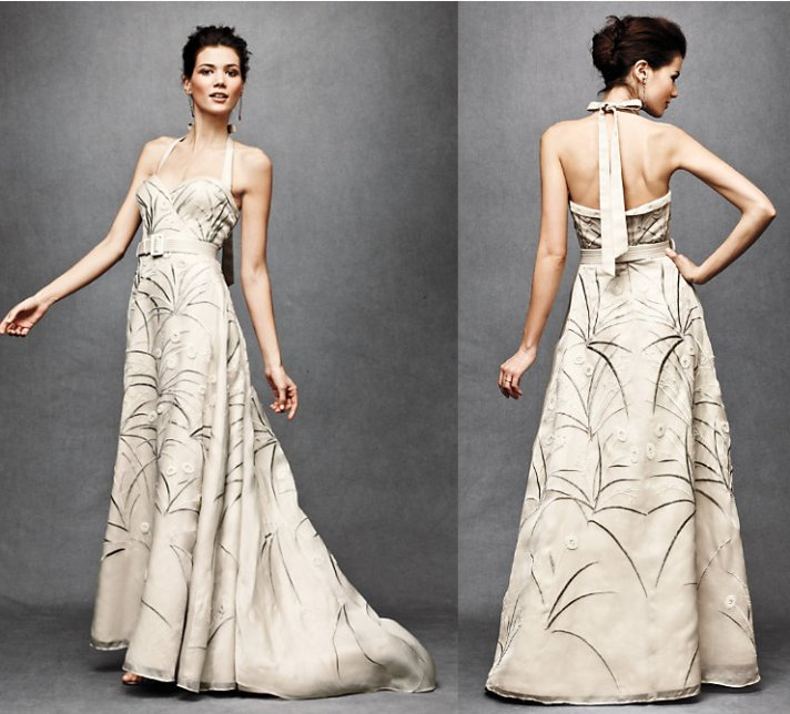 Wedding dresses get printed in 2012 onewed for Nature themed wedding dress