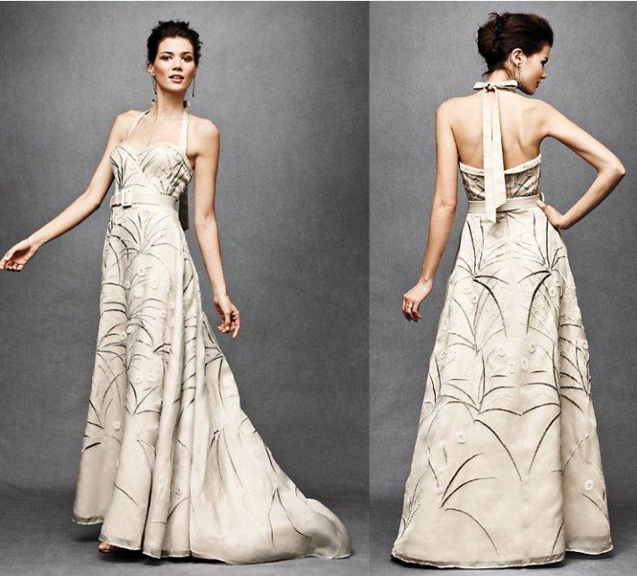 bhldn wedding dress nature print
