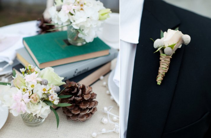 white wedding flowers grooms bout reception centerpieces