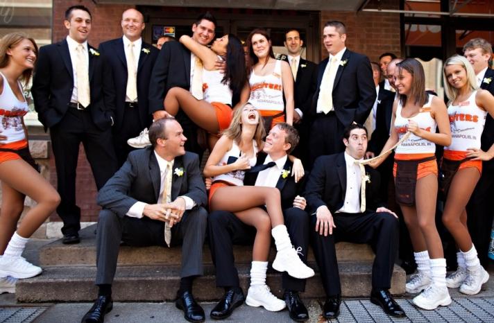blackmail wedding photos hooters bridesmaids