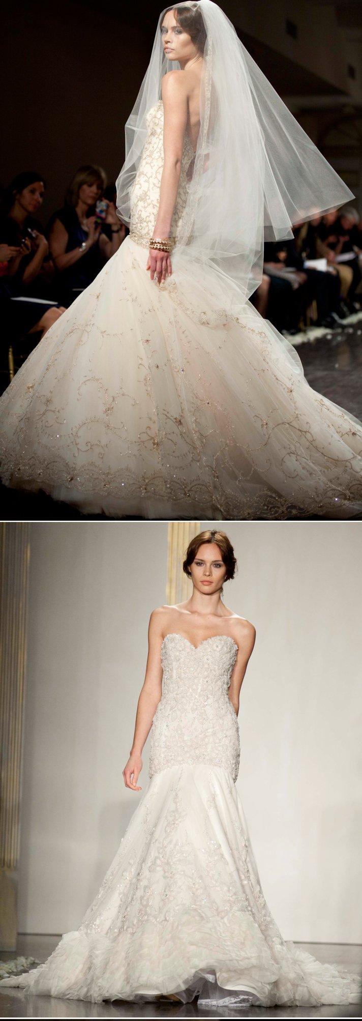 2012 mermaid wedding dresses by Lazaro and Jim Hjelm