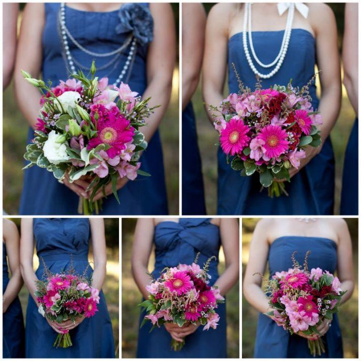 blue bridesmaids dresses mix match styles
