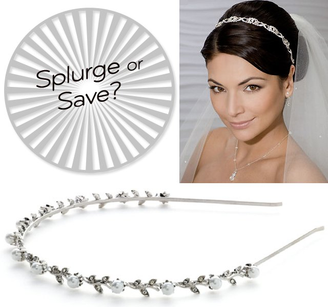 bridal headbands splurge vs save wedding accessories