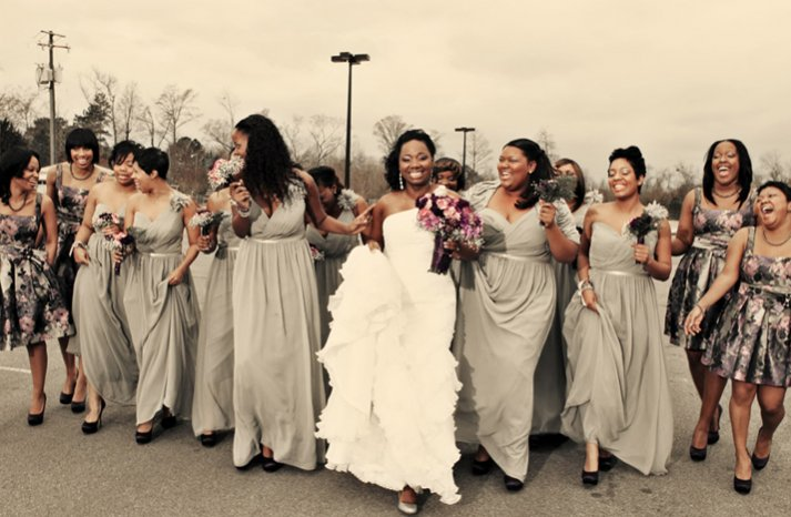 2012 wedding trends bridesmaids dresses mix match