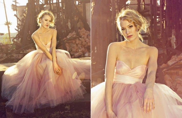 pink wedding dress 2012 bridal trends tulle