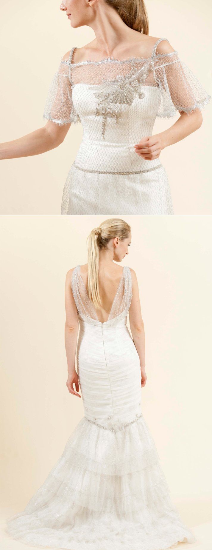 coco vochi wedding dress 2012 mermaid bridal gown beaded