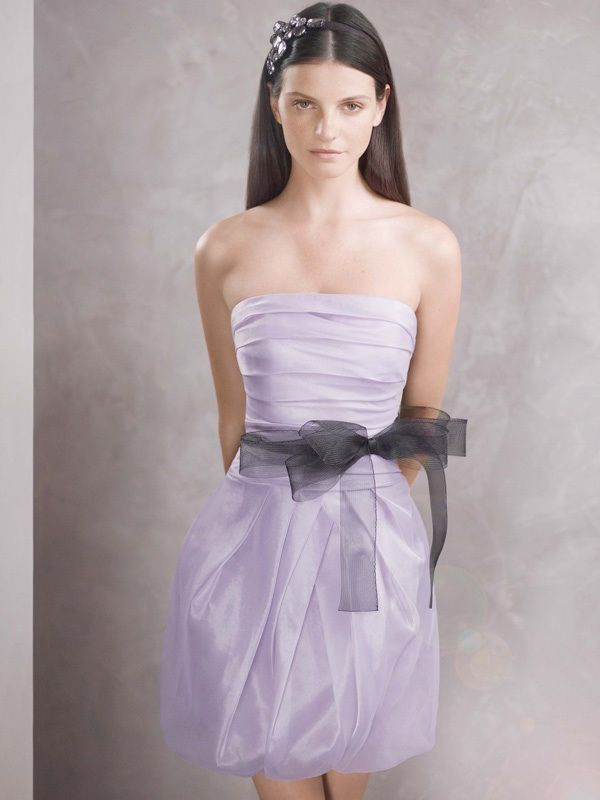 Get chic bridesmaids with white by vera wang for White wedding dress with lavender