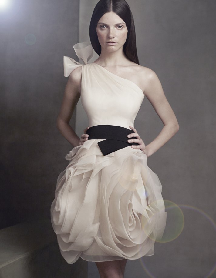 Get chic bridesmaids with white by vera wang onewed for Where to buy vera wang wedding dresses
