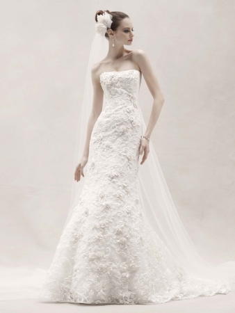 GOLD WEDDING DRESSES FROM DAVIDS BRIDAL