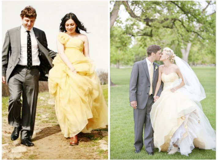 yellow wedding dresses 2012 wedding trends