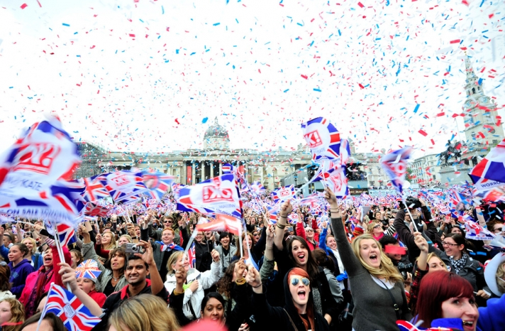 royal wedding up close celebration in streets