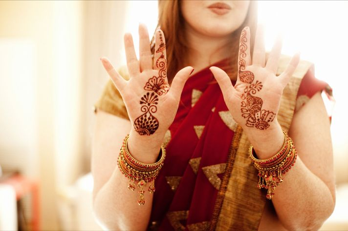 multi cultural weddings indian bride bridesmaids